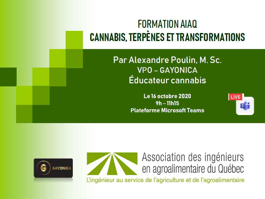 Affiche formation cannabis